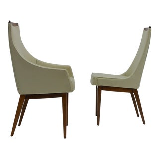 Twelve Dining Chairs in Walnut by Kipp Stewart for Calvin For Sale