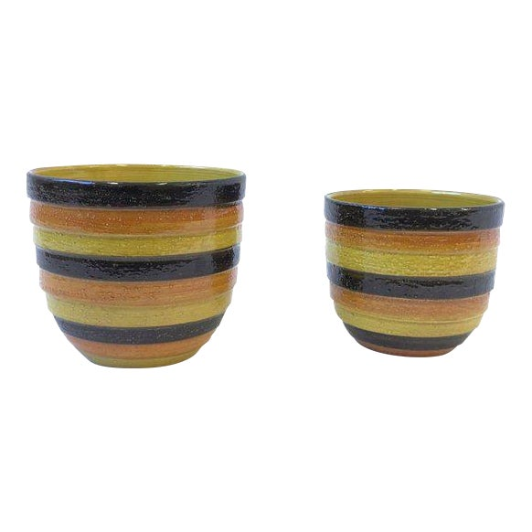 Pair of Italian Ceramic Planters by Bitossi for Rosenthal For Sale