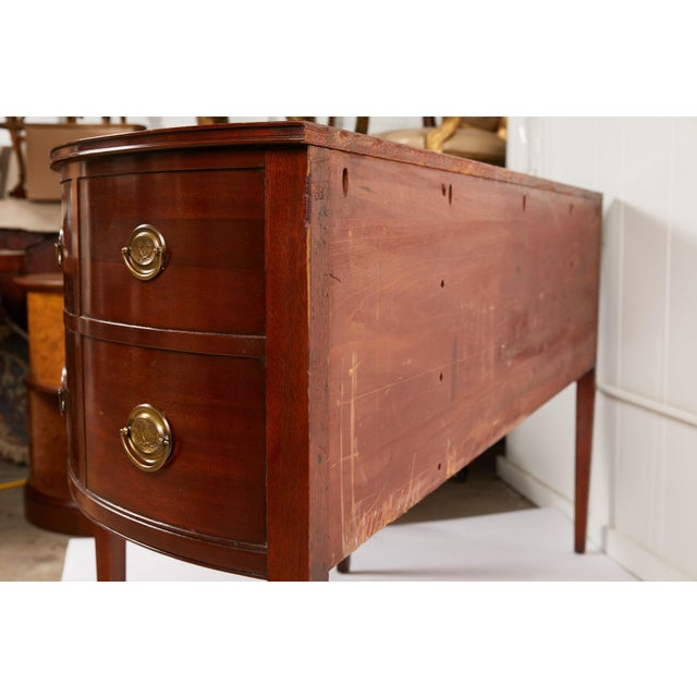 American Federal Style Mahogany Demilune Sideboard For Sale - Image 11 of 13