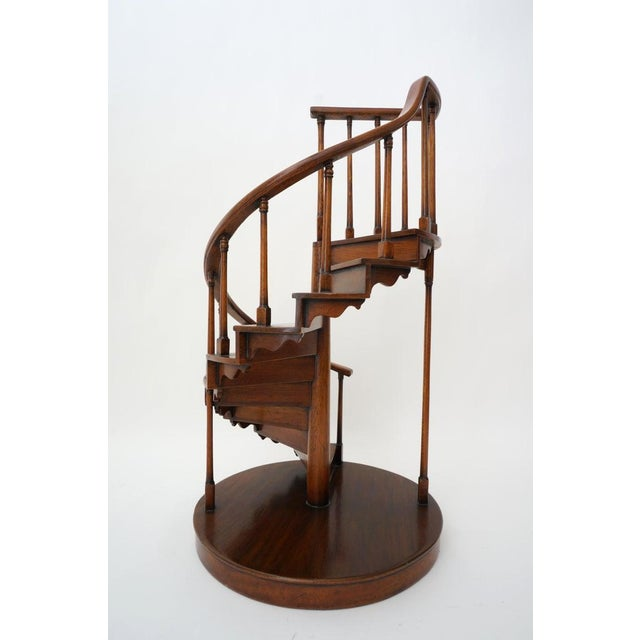 Late 20th Century Vintage Spiral Staircase Architectural Model in Mahogany For Sale - Image 5 of 12