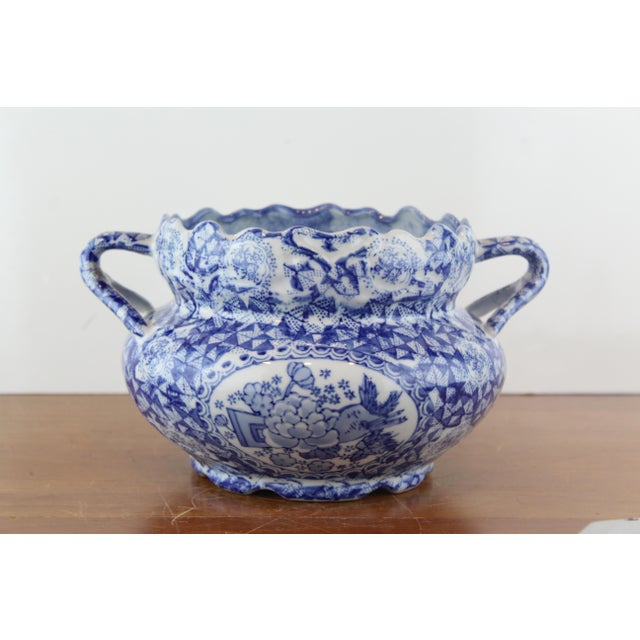 Blue Vintage Chinese Vegetable Dish For Sale - Image 8 of 8