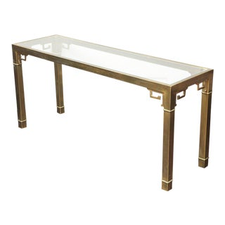 Vintage Mastercraft Brass Console For Sale