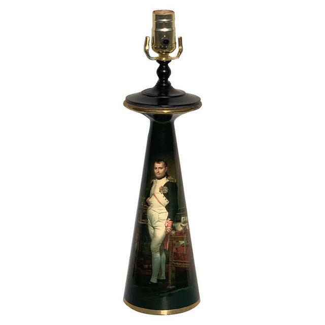 French Bronze Lamp, Enameled With Emperor Napoleon in His Study at the Tuileries For Sale - Image 12 of 12