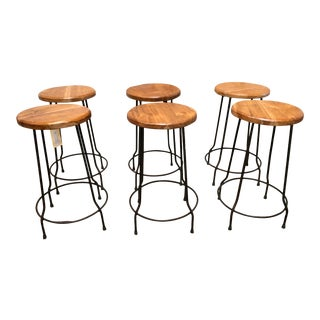 Mid 20th Century Bar Stools - Set of 6 For Sale