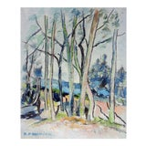 Image of Modernist French Landscape Oil Painting For Sale