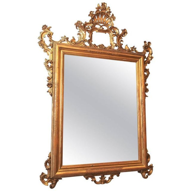 Antique Italian Gilt Wood Mirror - Image 7 of 7