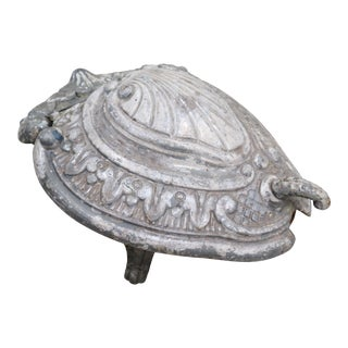 Antique French Cast Iron Coal Hod or Coal Scuttle For Sale