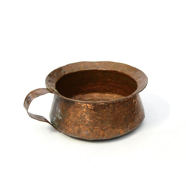 Hammered Copper Pot with Handle - Image 2 of 5