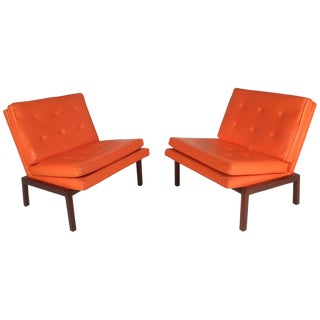 Mid-Century Modern Slipper Lounge Chairs by Milo Baughman for Thayer Coggin For Sale