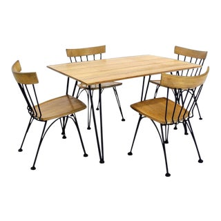 Mid Century Modern Dinette Dining Table Set - 5 Pieces For Sale