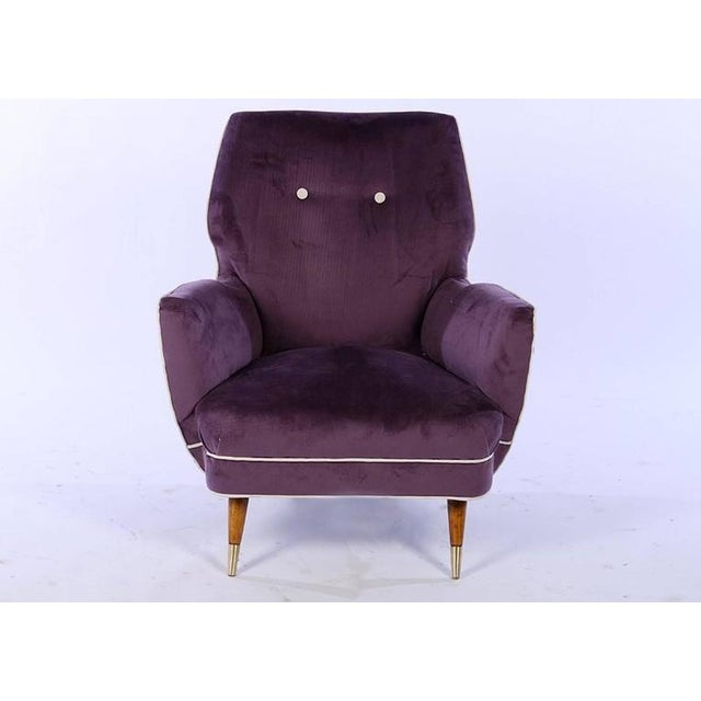Italian Circa 1960 Italian Mid Century Modern Club Chairs - A Pair For Sale - Image 3 of 7