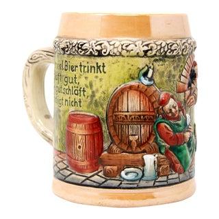 Antique German Porcelain Figural Beer Mug Stein For Sale