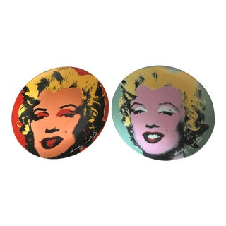Andy Warhol Limited Edition Marilyn Monroe Wall Plates - a Pair For Sale