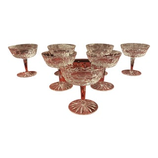 Waterford Crystal Champagne Glasses - Set of 7 For Sale