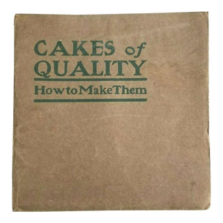 1910s Cakes of Quality - How to Make Them by Mrs. Osborn Cookbook + Ads For Sale