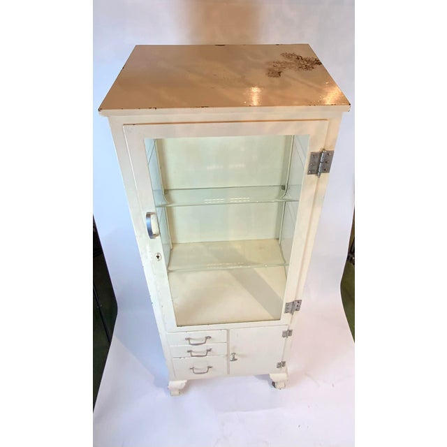 Metal 1950s Mid Century Metal Medical Cabinet For Sale - Image 7 of 13