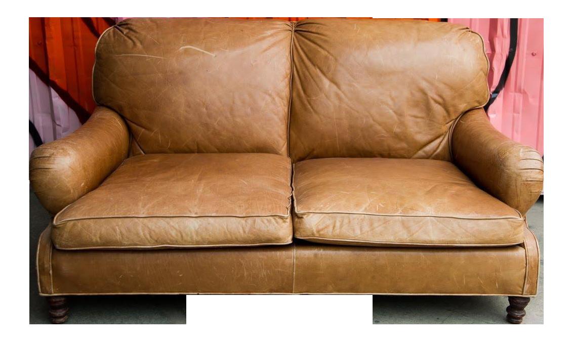 Delicieux 1990s Vintage Ralph Lauren Tan Leather Loveseat Sofa