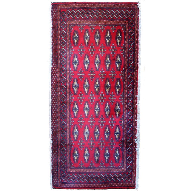 1970s Hand Made Vintage Turkoman Tekke Rug - 2' X 4.4' For Sale
