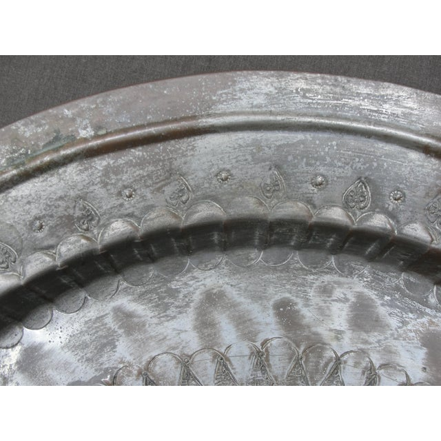 Animal Engraved Brass Tray Table - Image 7 of 10