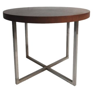 Mid-Century Modern Brueton Wood and Metal End Table For Sale