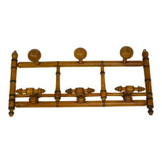 19th-Century French Coat/Hat Rack For Sale