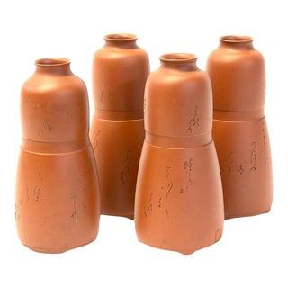 Japanese Antique Sake Bottles - Set of 4 For Sale