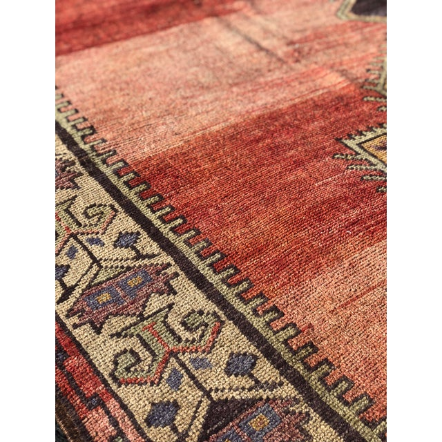 "Antique Turkish Oushak Runner - 5'1"" x 11'5"" - Image 6 of 12"