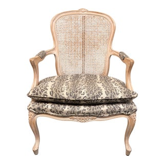 Rafael Homes Cheetah Upholstered Rattan Bergere Chair