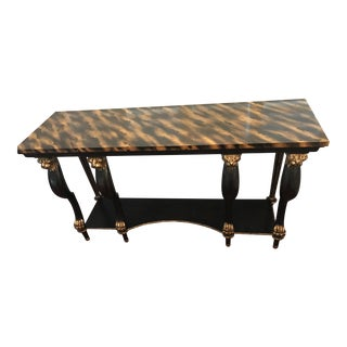 John Richards Lion Head Console Table