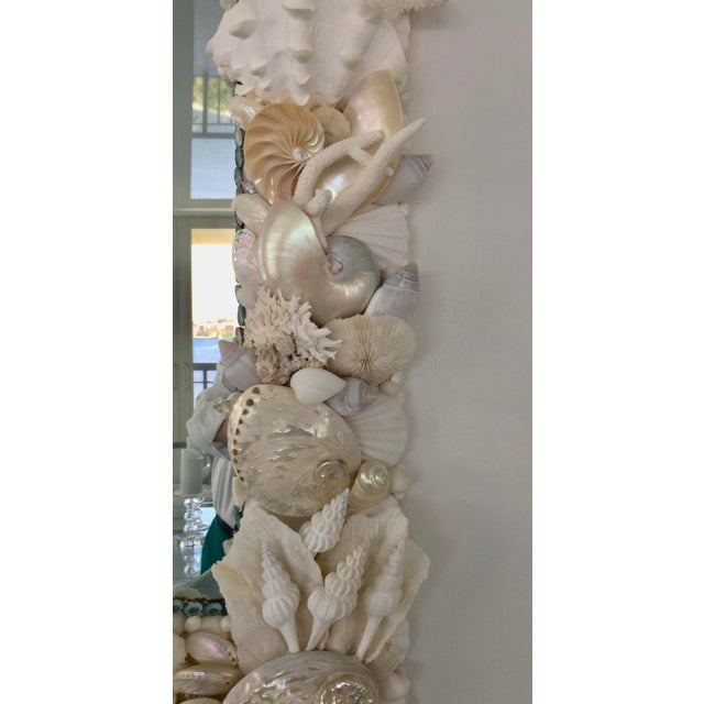 Not Yet Made - Made To Order Large Horizontal Seashell & Coral Mirror For Sale - Image 5 of 10