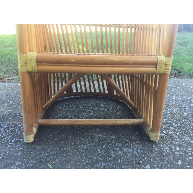 Vintage Rattan Barrel Chair - Image 10 of 11