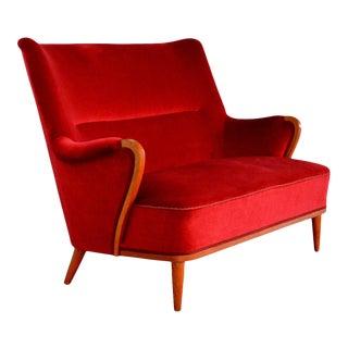 Swedish Art Moderne Settee Sofa For Sale