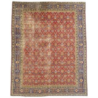20th Century Persian Tabriz Area Rug - 11′10″ × 14′10″ For Sale