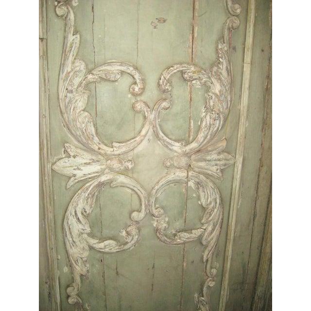 18th Century Louis XVI Painted Panel Door For Sale - Image 10 of 12