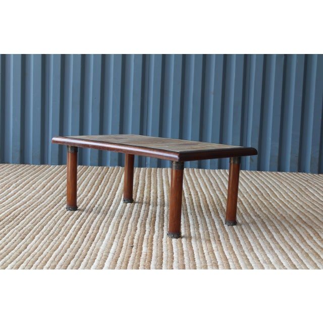 Mid-Century Modern French Cocktail Table With Roger Capron Tiles, 1960s For Sale - Image 3 of 10
