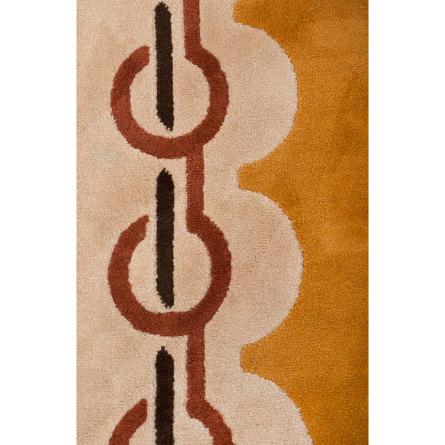 1970s Modernist Wool Rug by Pierre Cardin in Golden Yellow, Denmark 1960s For Sale - Image 5 of 11