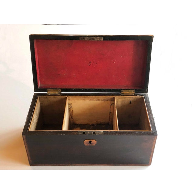 19th Century Mahogany Box With Lion Head Handles For Sale - Image 5 of 11