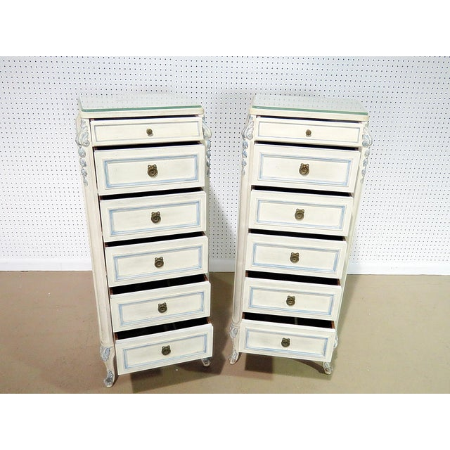Louis XVI Pair of Swedish Louis XVI Style Lingerie Chests For Sale - Image 3 of 9