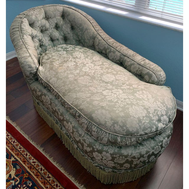 Antique Silk Upholstery Chaise For Sale - Image 12 of 12