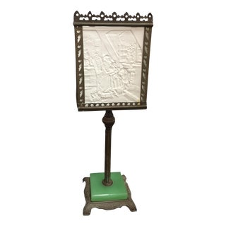 Antique 19th C. Lithoplane Table Lamp For Sale