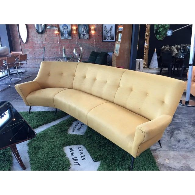 Midcentury Italian Large Curved Sofa, 1950s