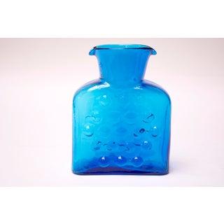 Vintage Blown Glass Turquoise 'Bubble' Double Spout Pitcher by Blenko Preview
