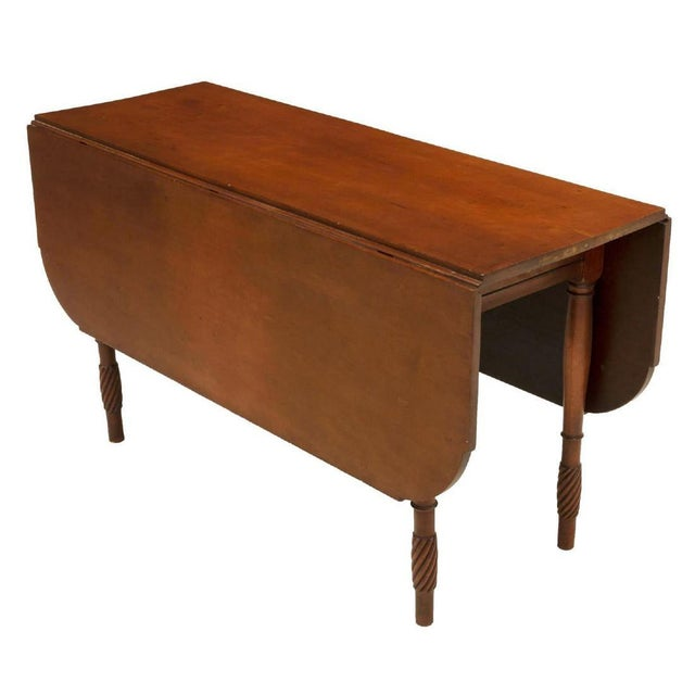 1950s Classic American Kentucky Cherrywood Pembroke Drop-Leaf Table For Sale - Image 5 of 6
