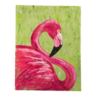 Pink Flamingo Portrait by Cleo Plowden For Sale