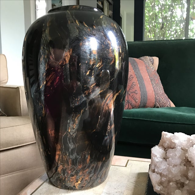 Royal Hager Copper & Silver Swirl Vase - Image 3 of 5