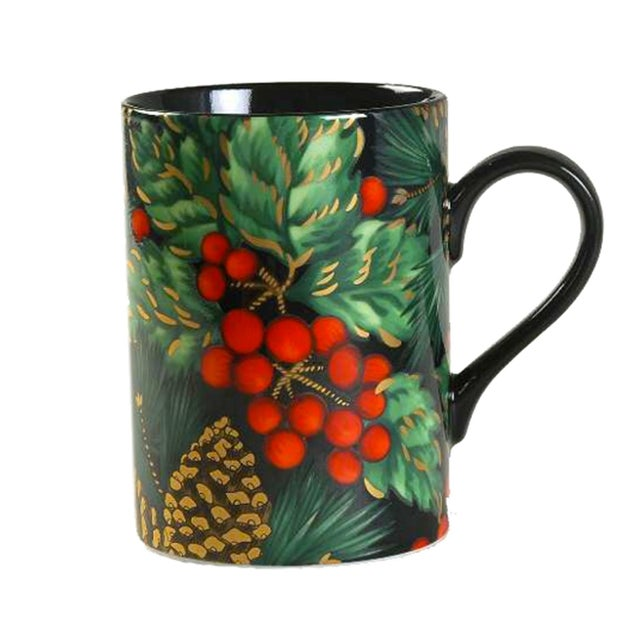 Traditional Fitz & Floyd Holiday Pine Coffee Mugs - Set of 8 For Sale - Image 3 of 3