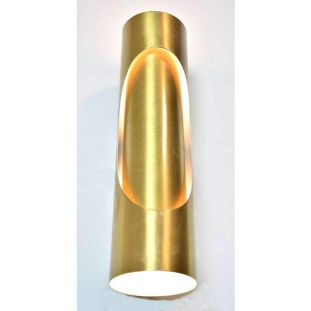 Metal Spanish Mid-Century Modern Sconces - A Pair For Sale - Image 7 of 7