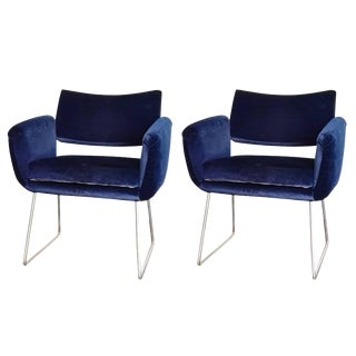 Pair of 760 Chairs by Joseph Andre Motte, France, 1957 For Sale