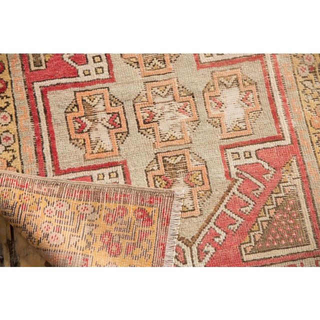 """Old New House Vintage Distressed Oushak Rug Runner - 2'11"""" X 9'5"""" For Sale - Image 4 of 7"""