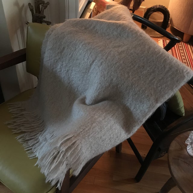 Australian Mohair Fringed Throw - Image 8 of 9